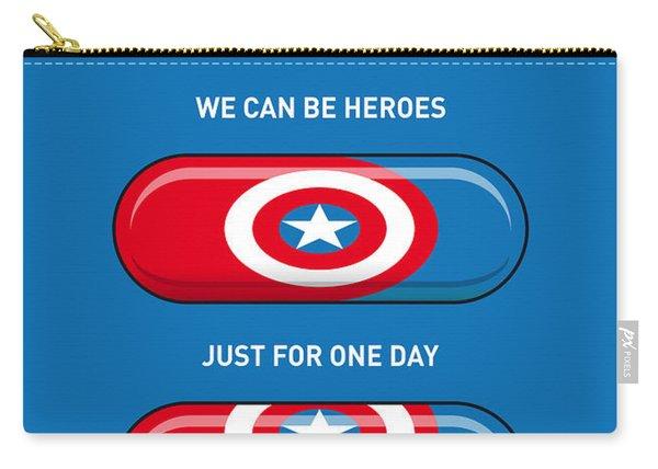 My Superhero Pills - Captain America Carry-all Pouch