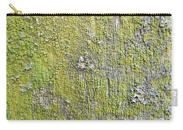 Natural Abstract 1 Old Fence With Moss Carry-all Pouch