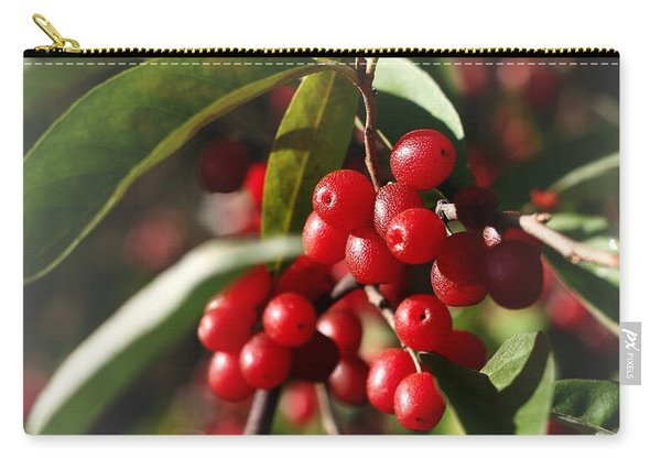 Natures Gift Of Red Berries Carry-all Pouch