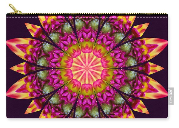 Carry-all Pouch featuring the digital art Nature's Mandala 16 by Derek Gedney