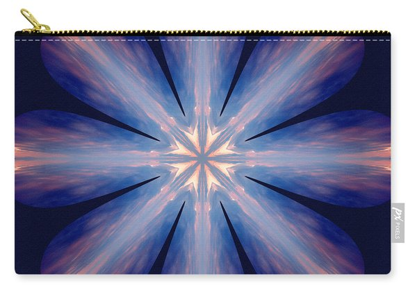 Carry-all Pouch featuring the digital art Nature's Mandala 54 by Derek Gedney