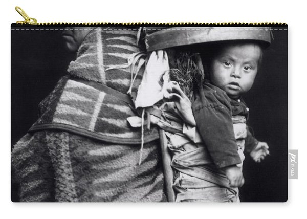 Navaho Woman Carrying A Papoose On Her Back Carry-all Pouch