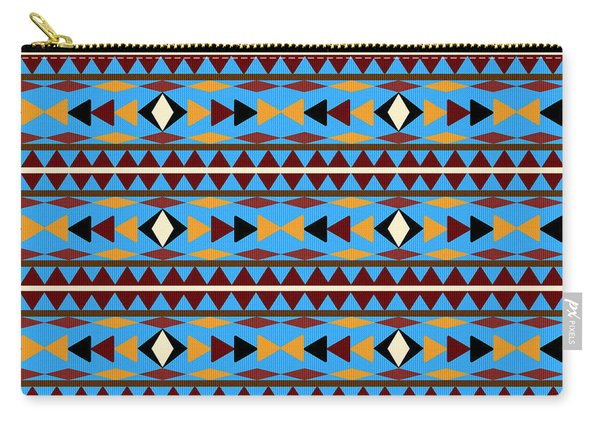Navajo Blue Pattern Carry-all Pouch