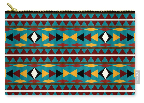 Navajo Teal Pattern Carry-all Pouch
