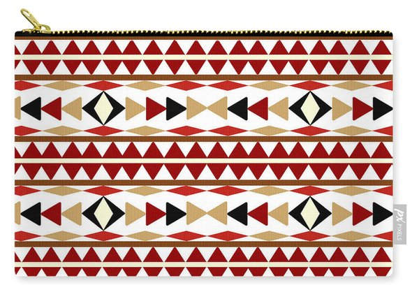 Navajo White Pattern Carry-all Pouch