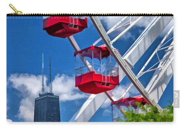 Chicago Navy Pier Ferris Wheel Carry-all Pouch