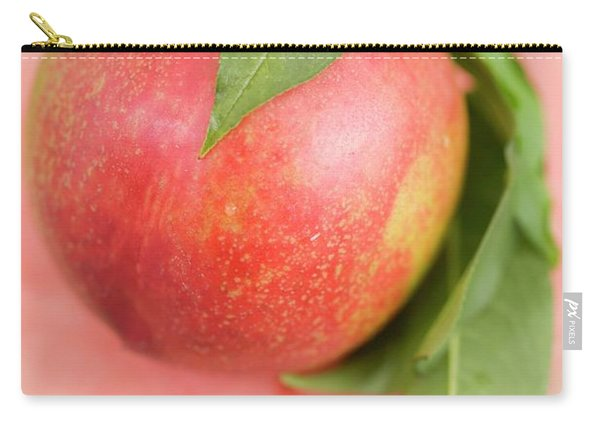 Nectarine With Leaves On Slice Of Watermelon Carry-all Pouch