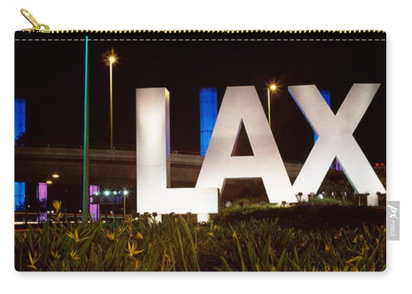 Neon Sign At An Airport, Lax Airport Carry-all Pouch