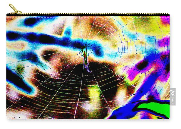 Neon Spider Carry-all Pouch