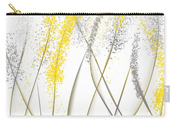 Neutral Sunshine - Yellow And Gray Modern Art Carry-all Pouch