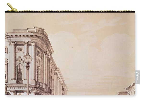 Nevsky Prospekt, St. Petersburg, Illustration From Voyage Pittoresque En Russie, 1843 Engraving Carry-all Pouch