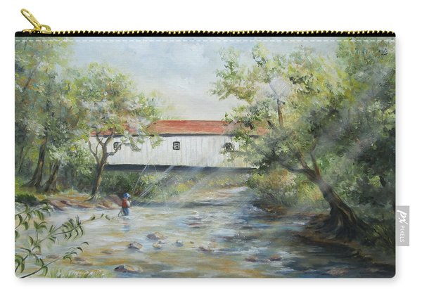 New Jersey's Last Covered Bridge Carry-all Pouch