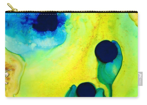 New Life - Green And Blue Art By Sharon Cummings Carry-all Pouch