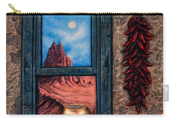 New Mexico Window Gold Carry-all Pouch