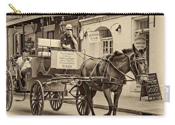 New Orleans - Carriage Ride Sepia Carry-all Pouch