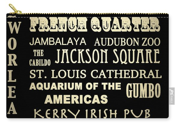New Orleans Louisiana Famous Landmarks Carry-all Pouch