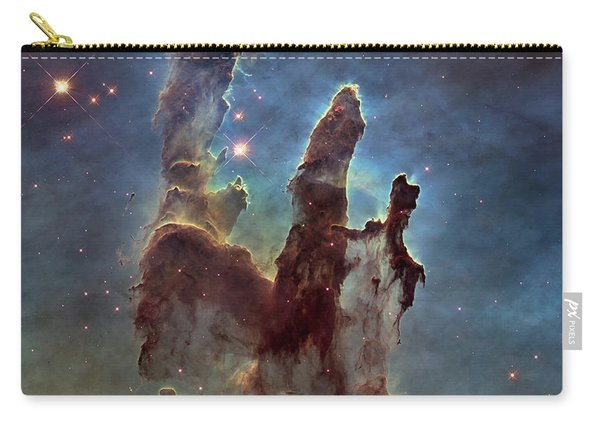New Pillars Of Creation Hd Square Carry-all Pouch