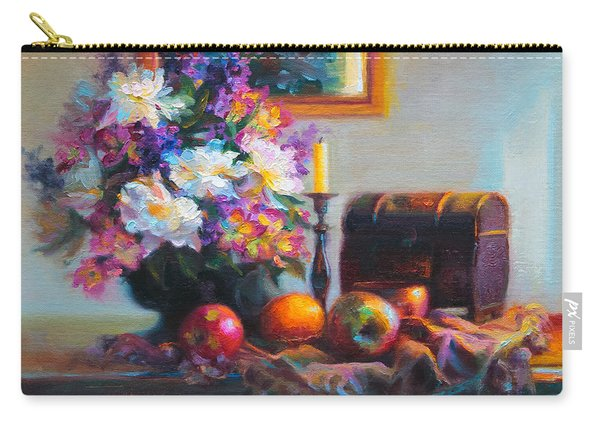 Carry-all Pouch featuring the painting New Reflections by Talya Johnson