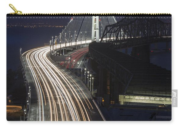 New San Francisco Oakland Bay Bridge Vertical Carry-all Pouch
