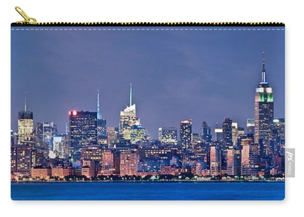 New York Blue Hour Panorama Carry-all Pouch