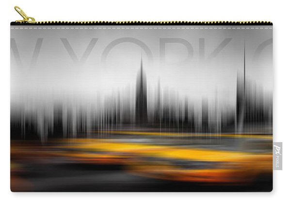 New York City Cabs Abstract Carry-all Pouch