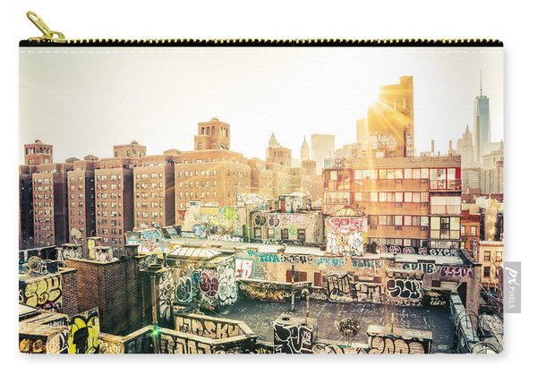 New York City - Graffiti Rooftops Of Chinatown At Sunset Carry-all Pouch