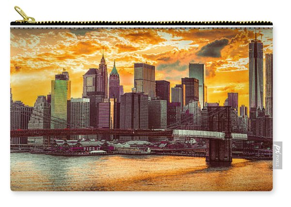 New York City Summer Panorama Carry-all Pouch