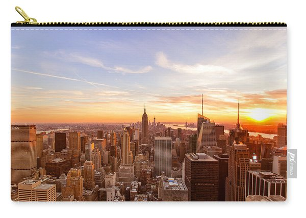 New York City - Sunset Skyline Carry-all Pouch