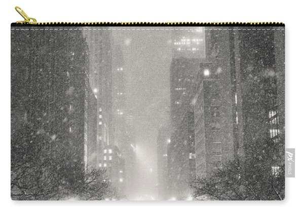 New York City - Winter Night Overlooking The Chrysler Building Carry-all Pouch