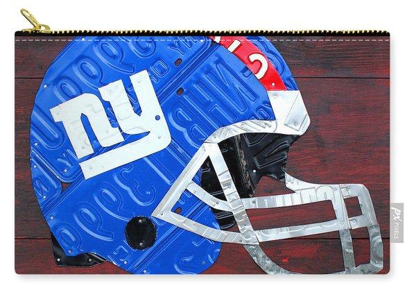 New York Giants Nfl Football Helmet License Plate Art Carry-all Pouch