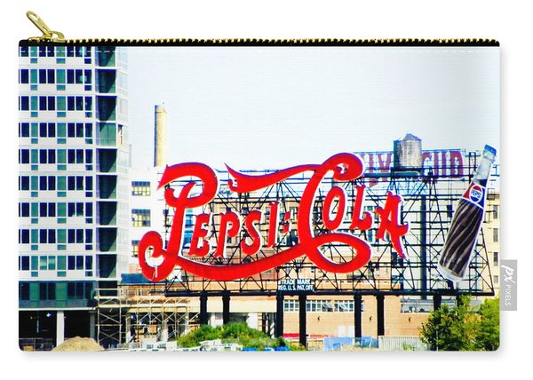 New York Pepsi Sign Carry-all Pouch