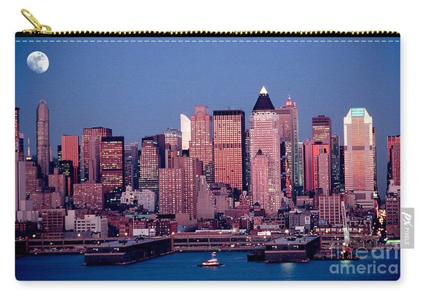 New York Skyline At Dusk Carry-all Pouch
