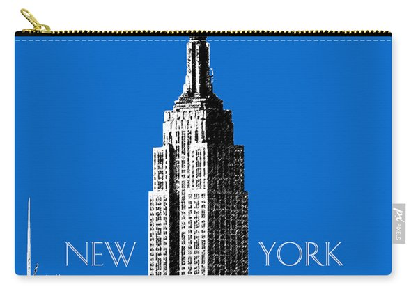 New York Skyline Empire State Building - Blue Carry-all Pouch