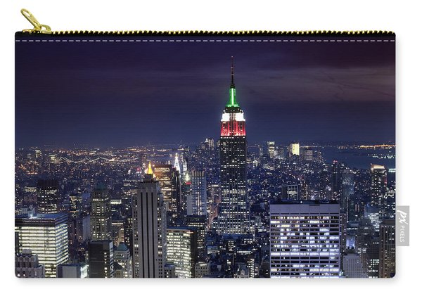 New York Skyline Night Color Carry-all Pouch