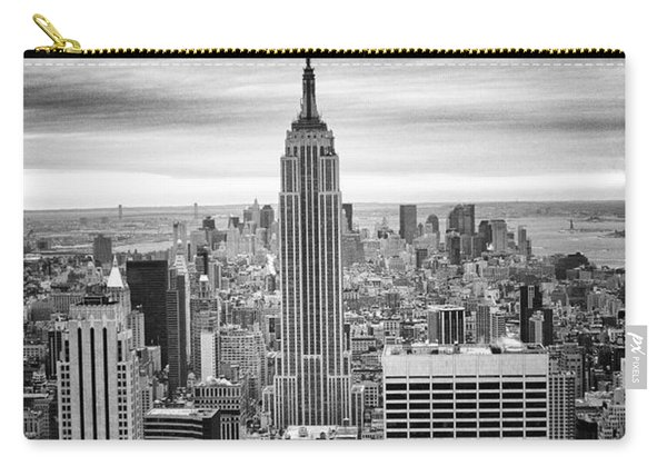 Black And White Photo Of New York Skyline Carry-all Pouch