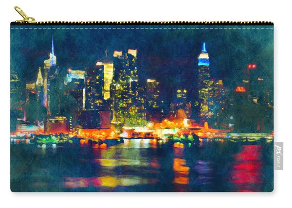 New York State Of Mind Abstract Realism Carry-all Pouch