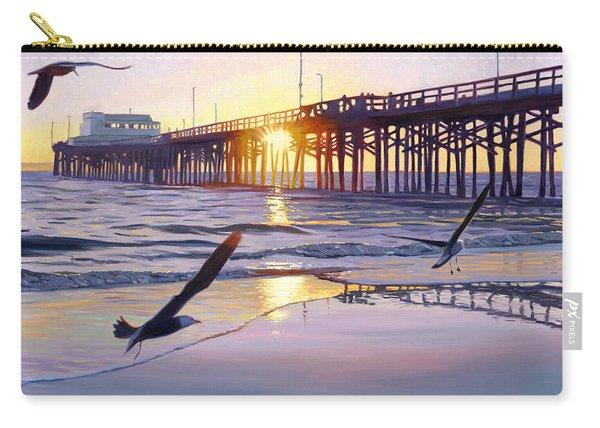 Newport Pier Sunset Carry-all Pouch