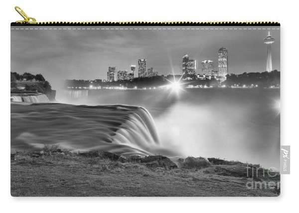 Niagara Falls Black And White Starbursts Carry-all Pouch