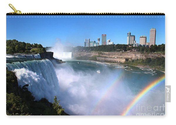 Niagara Falls Double Rainbow Carry-all Pouch