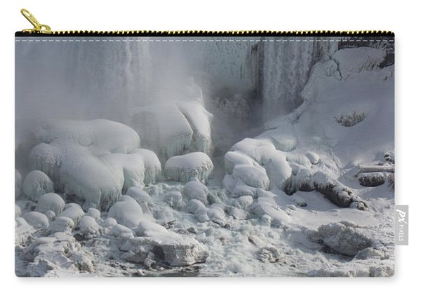 Niagara Falls Ice Buildup - American Falls New York State U S A Carry-all Pouch