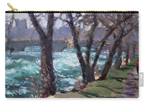 Niagara Falls River April 2014 Carry-all Pouch