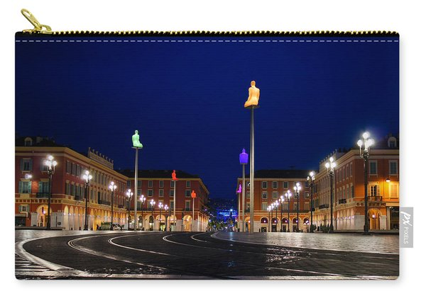 Nice France - Place Massena Blue Hour  Carry-all Pouch