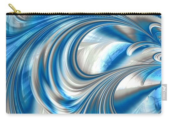 Nickel Blue Abstract Carry-all Pouch