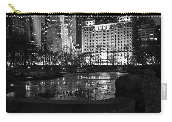 Night Central Park Lake H Carry-all Pouch