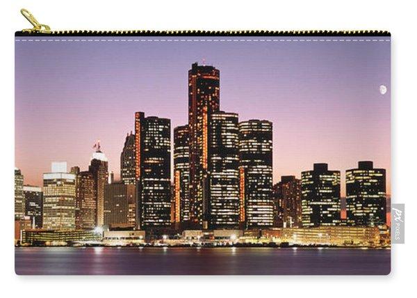 Night Skyline Detroit Mi Carry-all Pouch