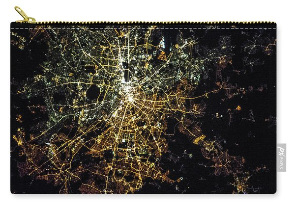 Night Time Satellite Image Of Berlin Carry-all Pouch