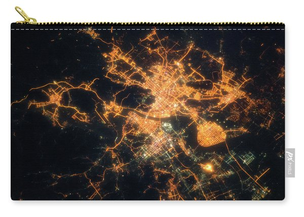 Night Time Satellite View Of Hangzhou Carry-all Pouch