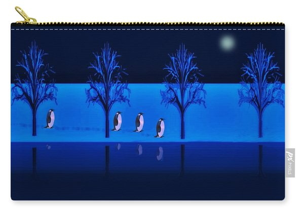 Night Walk Of The Penguins Carry-all Pouch