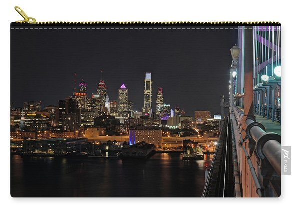 Nighttime Philly From The Ben Franklin Carry-all Pouch