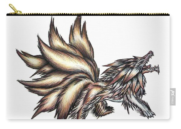 Nine Tails Wolf Demon Carry-all Pouch